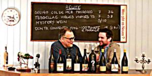Marc Schöni und Carlo Wismer, die Gastgeber der Vinozbar, heissen euch Willkommen.